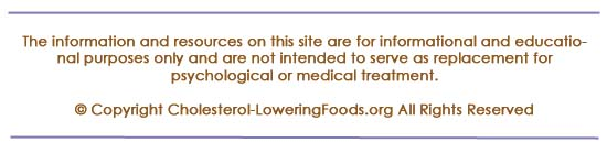 Disclaimer for cholesterol-loweringfoods.org