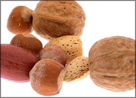 Nuts are also good as food that lower cholesterol