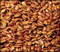 Flax seeds are excellent for lowering your cholesterol.