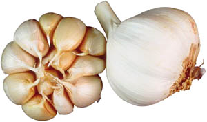 Foods to lower cholesterol: Picture of garlic cloves