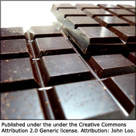 Add dark chocolate to your diet. Chocolate works well as a food to lower cholesterol: Picture of Chocolate bars