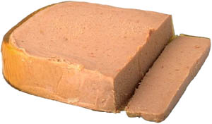 High cholesterol foods: Picture of fat liver pate.