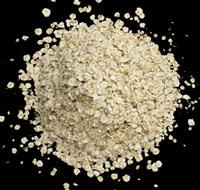Cholesterol chart: Pile of oatmeal.
