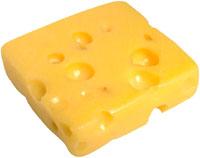 Avoiding high cholesterol symptoms: Big lump of cheese.