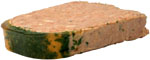 Lower cholesterol naturally by avoiding liver pate: A slice of liver pate.