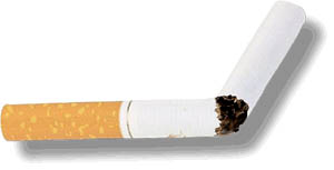 Niacin for cholesterol: Quit smoking. Broken cigarette.