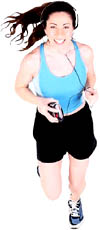 Niacin for cholesterol lowering: Woman jogging or running.