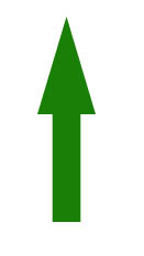 Arrow indicating that you want high HDL levels.