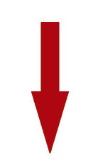 Arrow indicating that you want your ldl levels to be low.