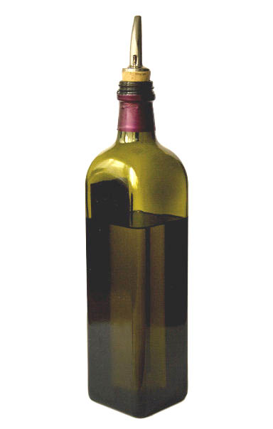 Picture of a bottle of olive oil. Some of the best cholesterol lowering foods.