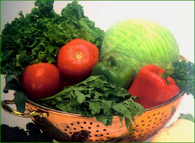 Lots of vegetables are good for a cholesterol and triglyceride lowering diet.
