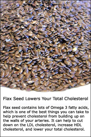 Flax seed is a very healthy cholesterol lowering supplement as it is also rich in omega 3.