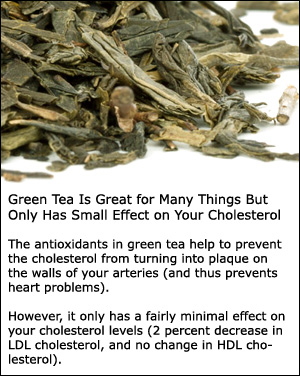 As a cholesterol lowering herb, grean tea is a subtle means to lower cholesterol.