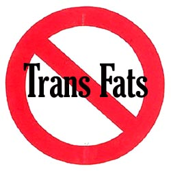 No entry sign. Try to avoid the unhealthy trans fats in your low cholesterol diet plan.
