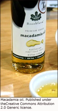 Macadamia oil is a good substitute for butter in your low cholesterol diet plan.