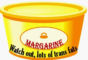 Margarine is often full of trans fats which should be avoided in your low cholesterol diet plan.