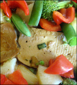 Tofu is a great source of soy that will help to lower your cholesterol.